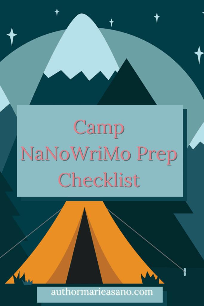 Camp NaNoWriMo Prep Checklist